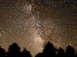 show milkyway position