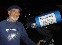 Herman with telescope